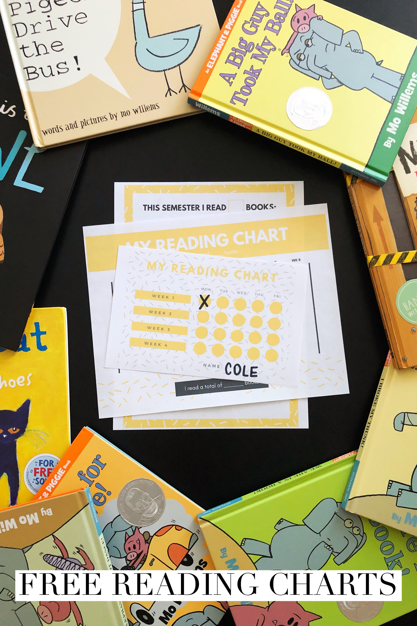FREE Reading Chart Printables for Kids