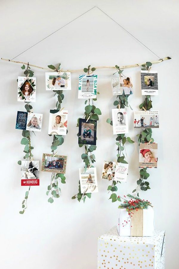 Christmas Card Photo Display Ideas from the Child at Heart Blog