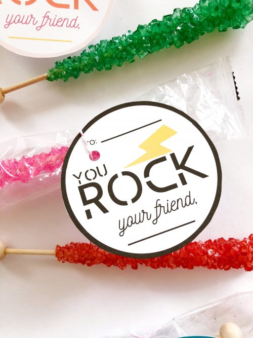 YOU ROCK Free Valentines Day Printable Tags